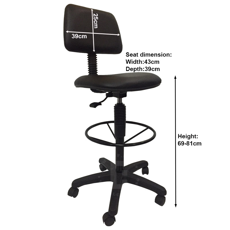 black drafting office chairs