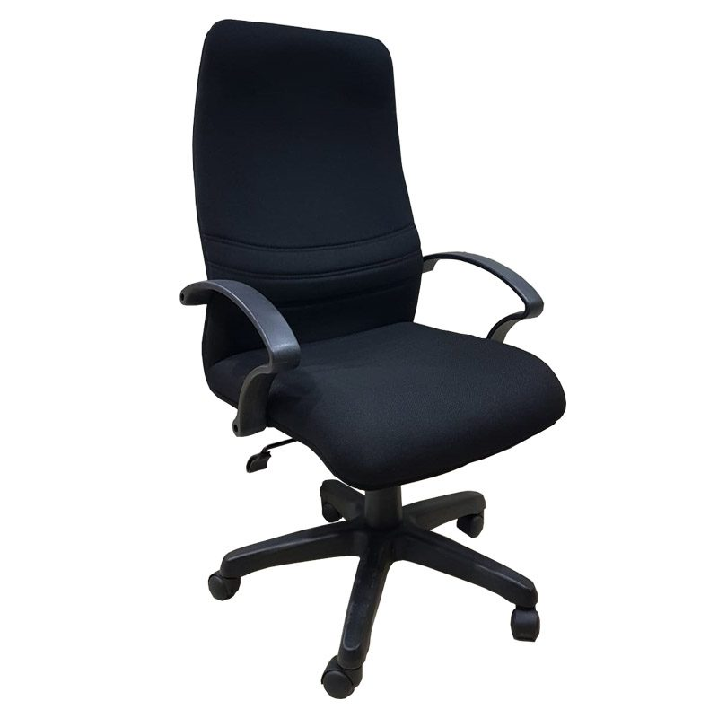 Andrea High Back Chair Black Fabric Lcf Furniture Store