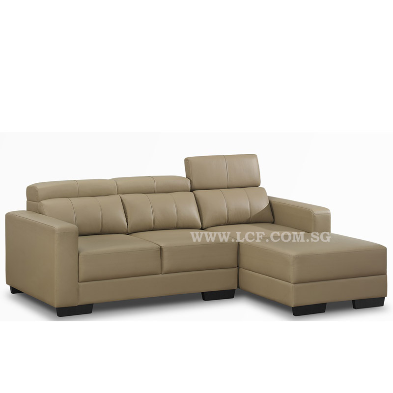 Outstanding Grace L Shape Sofa Half Leather Lcf Furniture Store Download Free Architecture Designs Rallybritishbridgeorg