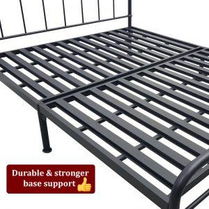 Sue Metal Bed Black Lcf Furniture