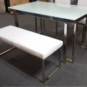 LEA-Glass table bench set (3)