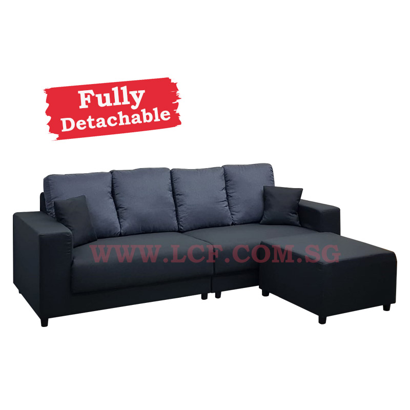 Beck 4 Seater Sofa Ottoman Fully Detachable Cover Lcf